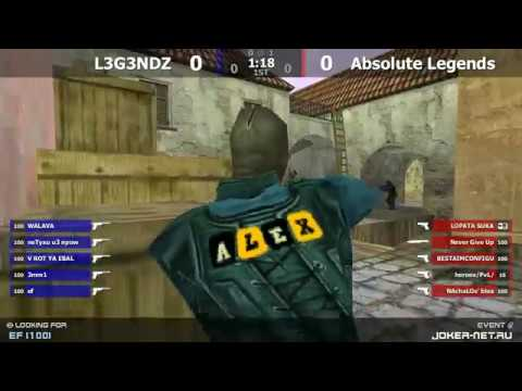 Финал турнира по CS 1.6 от проекта Joker-net.ru [Absolute Legends -vs- L3G3NDZ] @ by kn1fe /2map