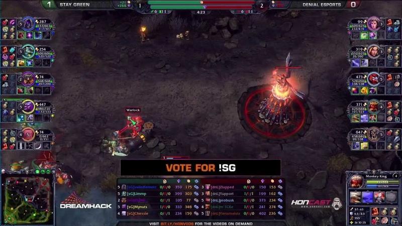 Denial eSports Vs Stay Green Map 2 Grand final Dreamhack Winter 2013 Heroes of Newerth