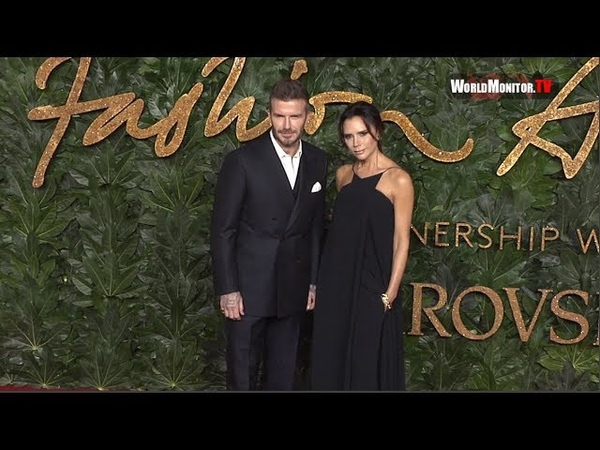 David Beckham, Victoria Beckham arrive at The Fashion Awards 2018