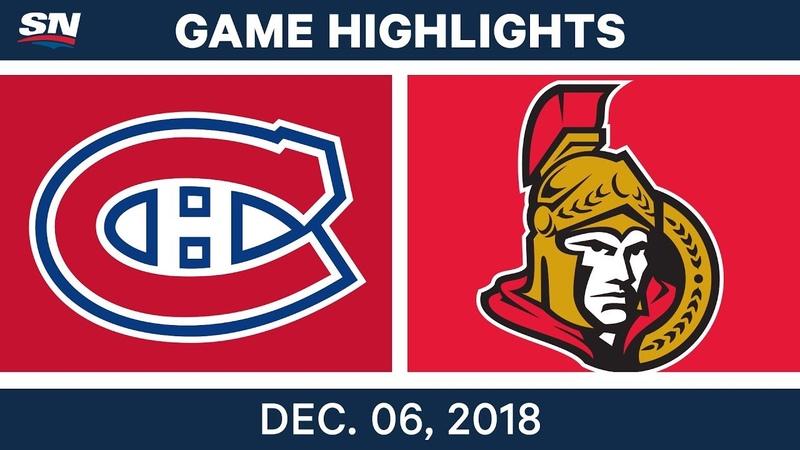 NHL Highlights | Canadiens vs. Senators - Dec 6, 2018