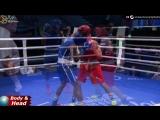 Сдвоенные удары от казахстанского боксёра для кубинца на молодежном Чемпионате мира 2018 года