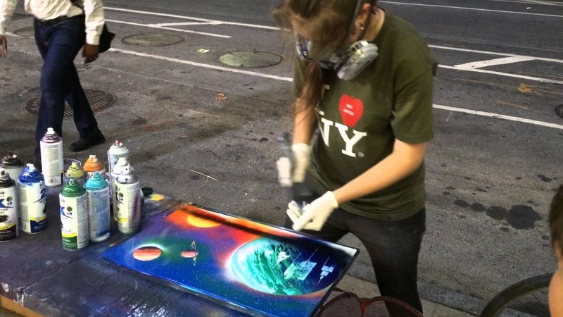 Artista callejera de Nueva York