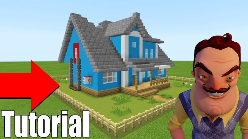 Minecraft Tutorial How To Make The Hello Neighbour House Original Hello Neighbour House