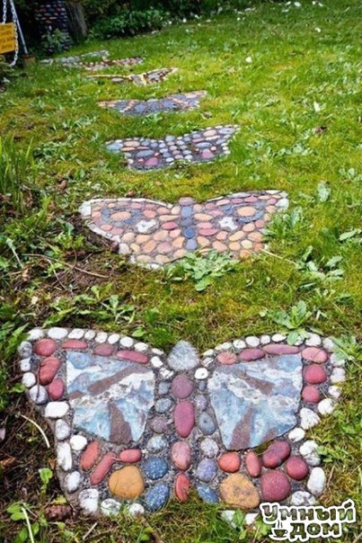Садовая мозаика - Идеи садового дизайна!!! Умный дом - уголок для дачника!