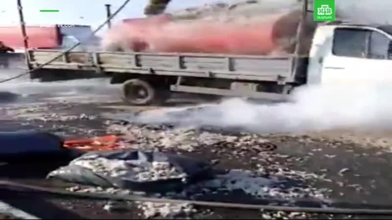 Загорелась «Газель» с замаскированной цистерной
