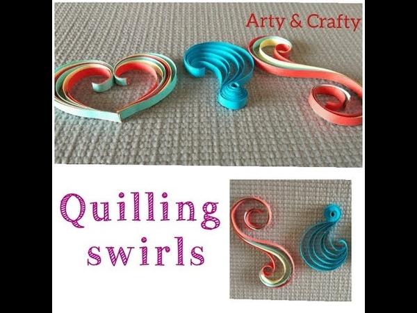 Quilling Swirls Tutorial paper quilling 3 swirls basicshapes