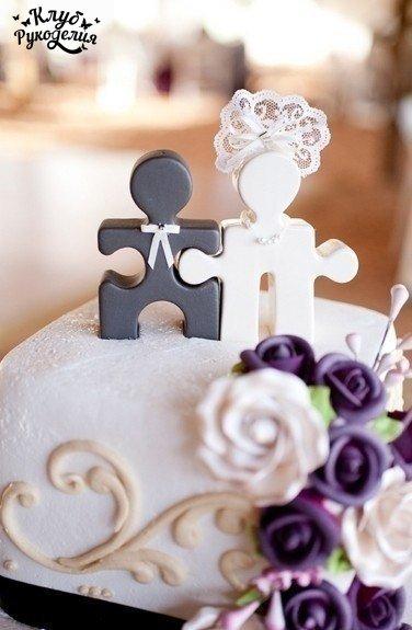 Идея для украшения свадебного торта (1 фото) - картинка