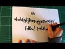 ▶ Hand Lettering Tutorial - Pentel Color Brush - YouTube