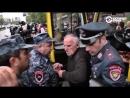 Ереван водитель маршрутки отказывается везти задержанных