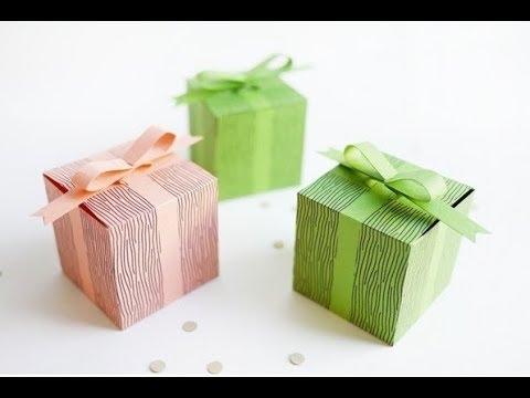 5 Cách làm hộp quà từ giấy màu đơn giản mà đẹp