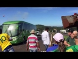 Brazil Fan Attacks Their National Team Bus After Disqualified From Russia World Cup 2018