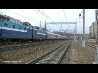 Электровоз ЧС7-023 с поездом № 10 Варшава - Москва