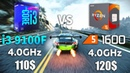 Ryzen 5 1600 vs Core i3 9100F Test in 10 Games