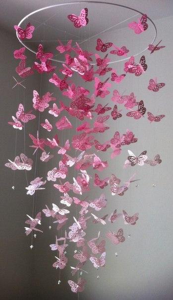 Декоративные бабочки своими рука