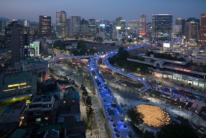 MVRDV's elevated skygarden opens on former highway in Seoul