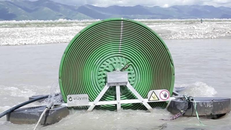 Barsha Pump - A Hydro-Powered Waterwheel - empowering people. Award Winner 2016