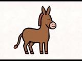 Мультфильмы для Малышей - Рисунки Тёмы - Нарисуй ослика