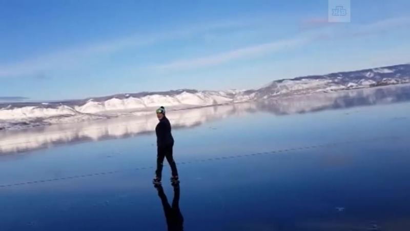 Невероятная красота. Прозрачный лед на Байкале