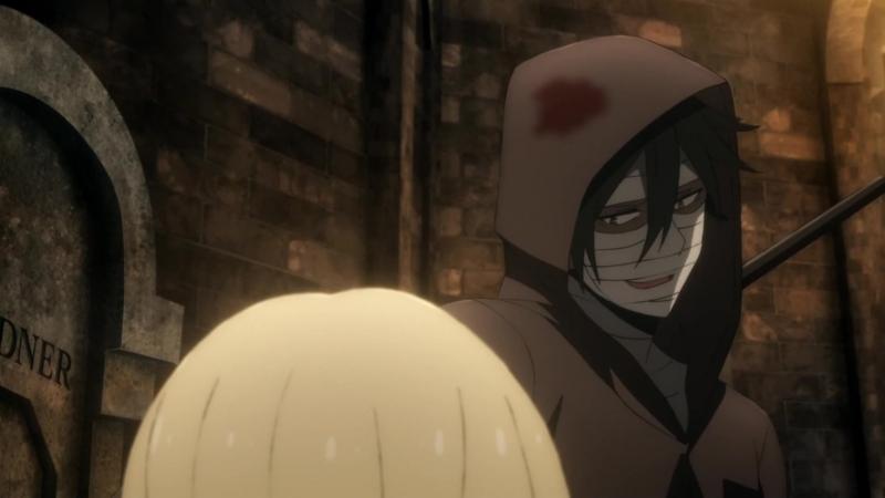 прикольный момент №1 из аниме ангел кровопролития
