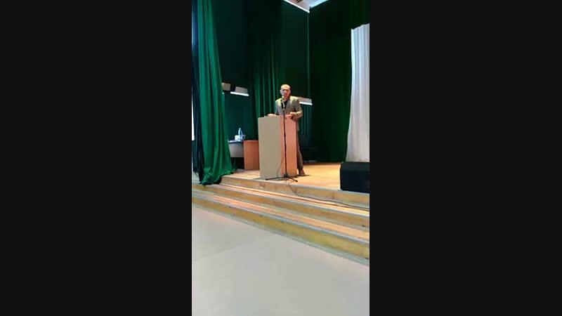 Выступление железного человека в СДЦ, прямое включение