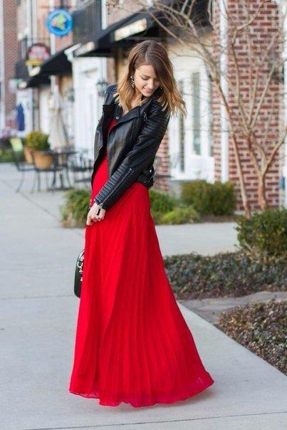 Осенние образы! Макси юбка косуха. (7 фото)