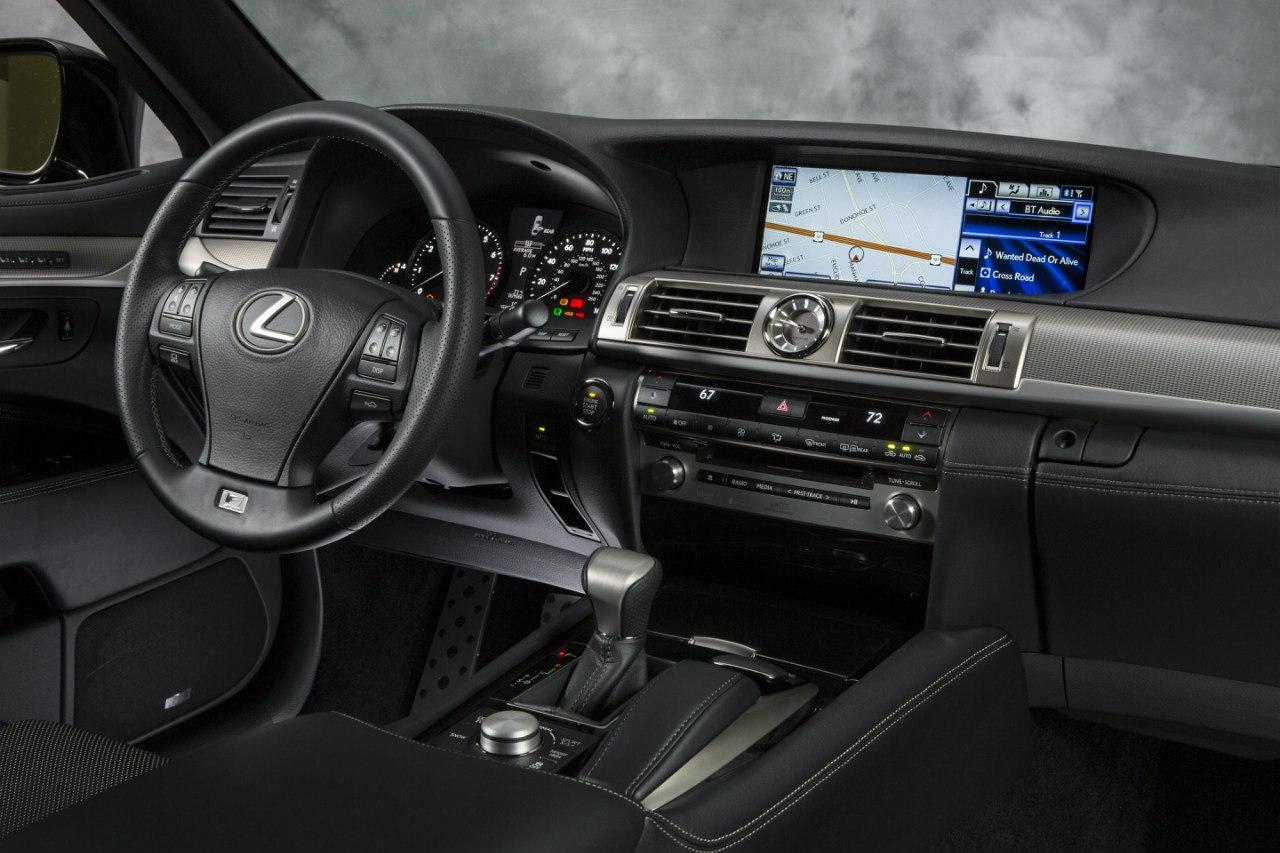 Черный салон Lexus LS 600 2013