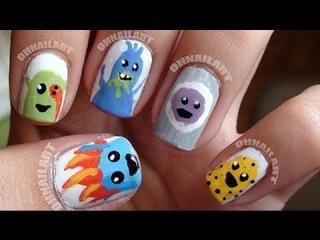 Как нарисовать на ногтях героев Dumb Ways To Die