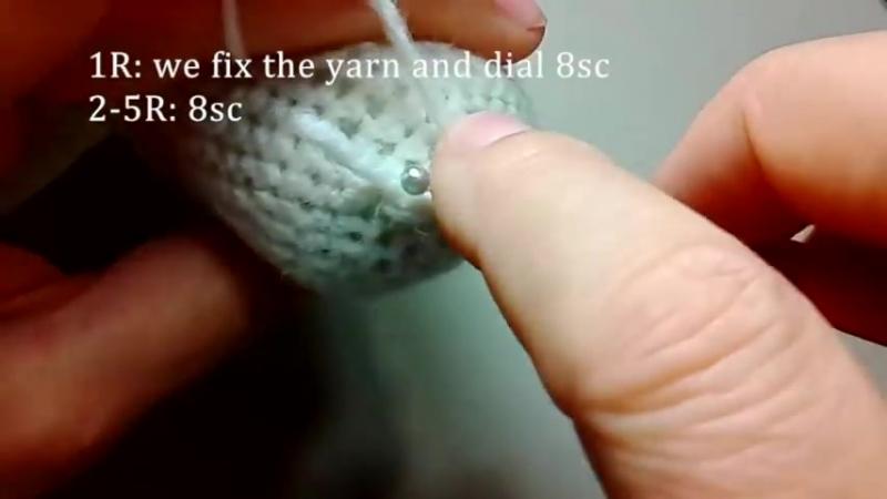 Грустный поросенок Пуа, ч.2. The sad pig Pua, р.2. Amigurumi. Crochet. Амигуруми.