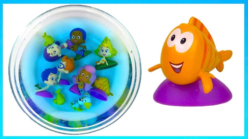 Learn colors with Bubble Guppies toys in water Bubble Puppy PlaycLaytv Shimmer and Shine english ful