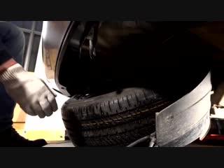 Запасное колесо. Как быстро и просто снять и установить запаску. Mitsubishi Motors от А до Я