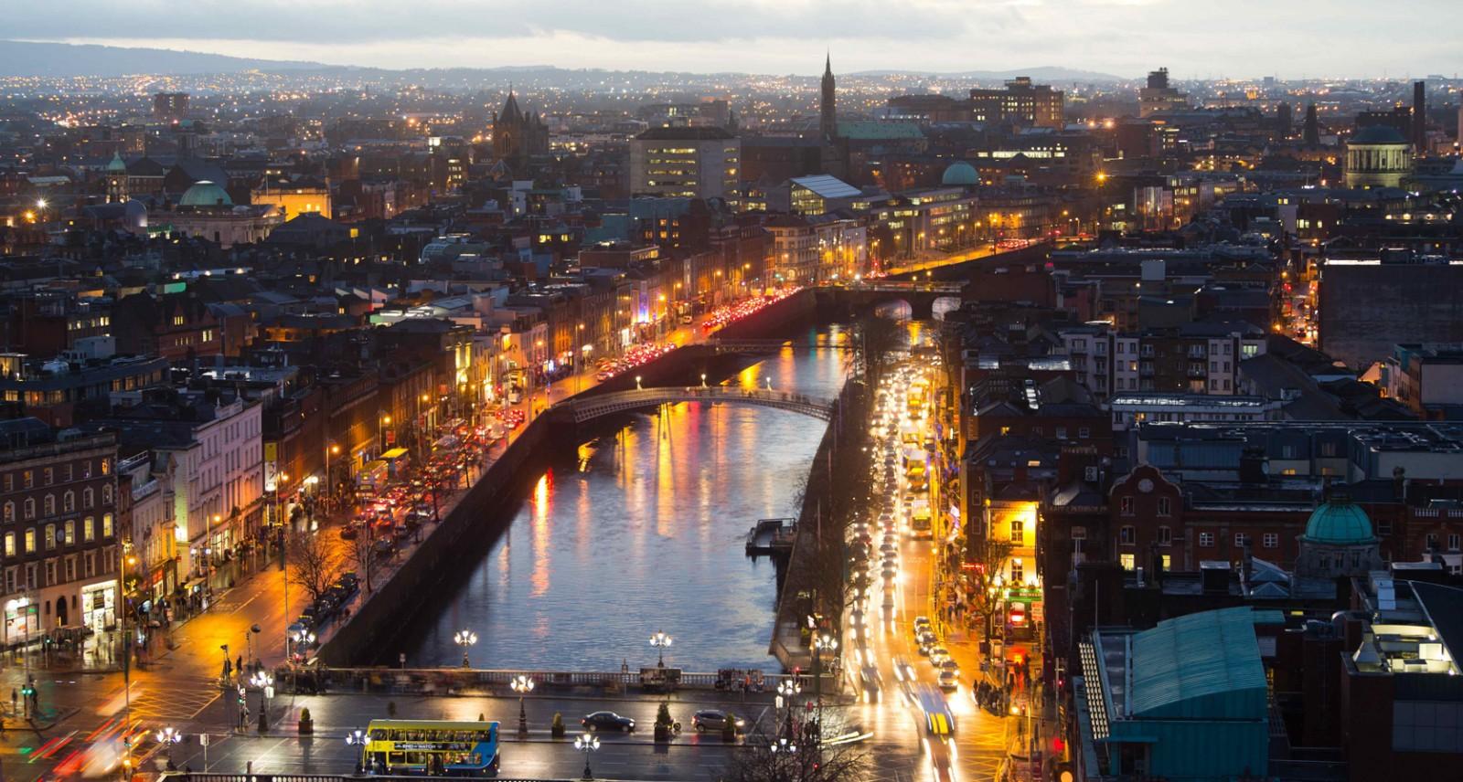 Панорамный вид на центр столицы Ирландии