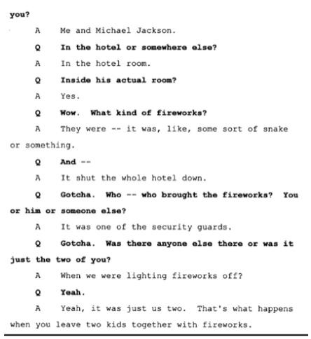 Показания Йоши Уейли, сына Джоли Левин (секретарь MJ)., изображение №10