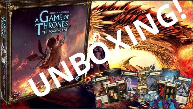 Игра престолов: Мать Драконов (дополнение) - Анбокс обзор карточек!