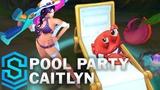 Pool Party Caitlyn Skin Spotlight - Pre-Release - League of Legends
