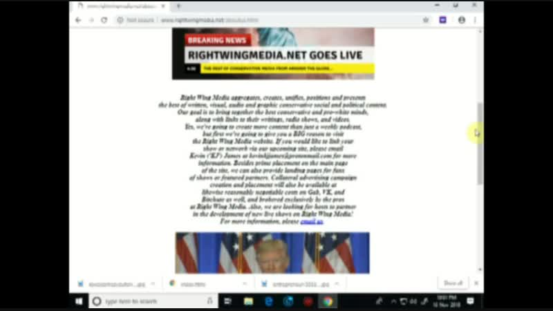 Right Wing Media 1162018 Podcast -- Welcome to Our Website