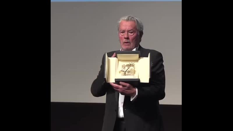 Ален Делон получает почётную «Золотую пальмовую ветвь»