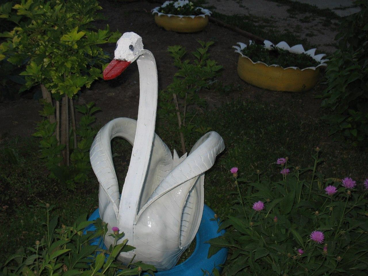 Кашпо лебедь своими руками Лебедь мастер класс 30