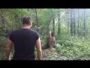 Метание малой пехотной лопатки фланкировкп с Виктором Тарасоввм