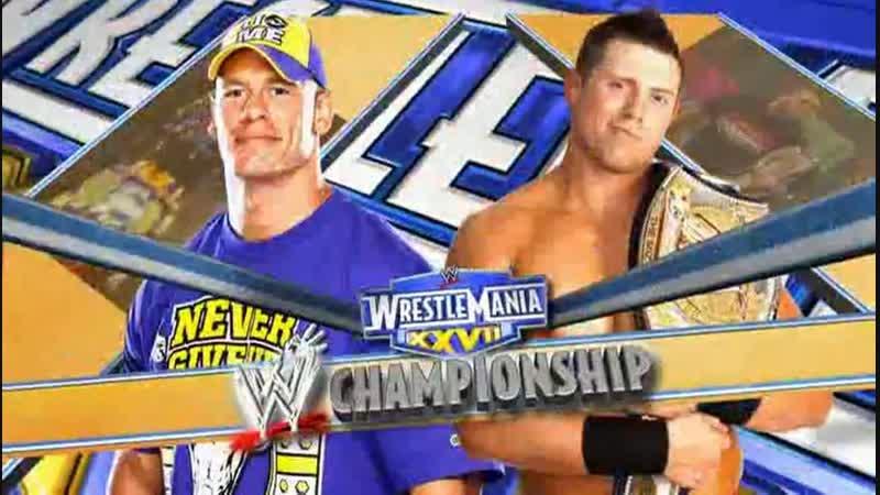 WWE Mania WrestleMania XXVII The Miz c vs John Cena WWE Championship
