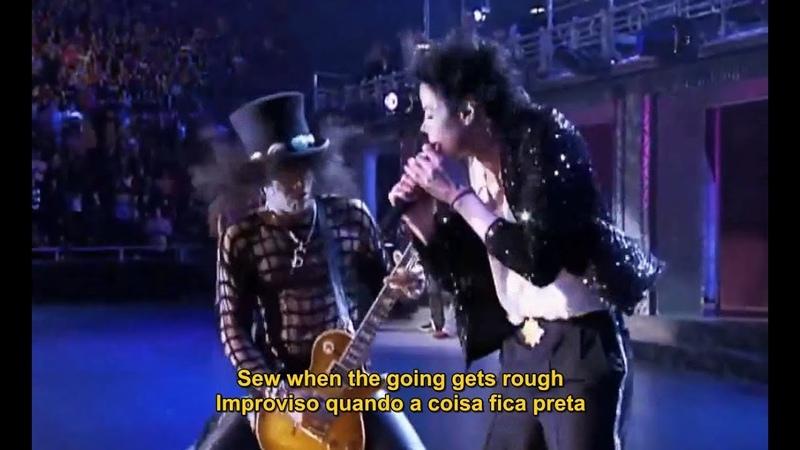 Michael Jackson [Ft. Slash] Black Or White (Live 2001) Legendado em PT/ENG