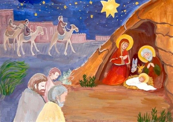 Рисунки с рождеством христовым своими руками