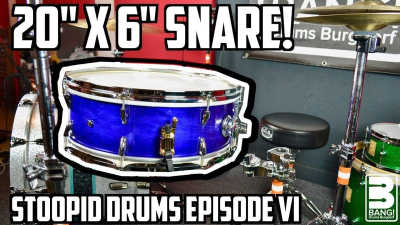 GIANT 20x6 SNARE! | Stoopid Drums Episode VI
