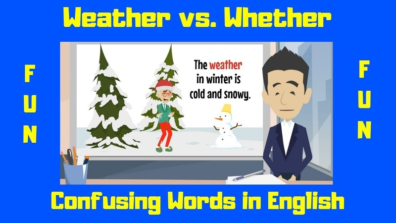 Whether vs. Weather | Commonly Confused Words | English Language Learners