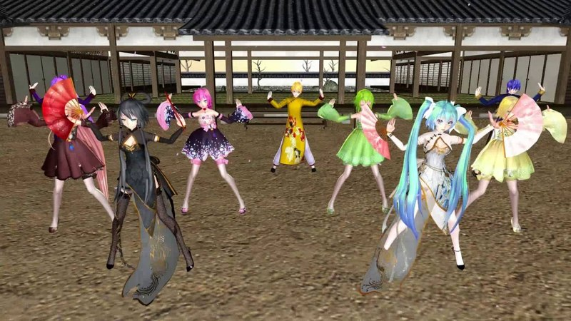 [MMD] Senbonzakura (千本桜) - Miku, Luo TianYi, GUMI, Rin, Luka, IA, KAITO, Len Gakupo
