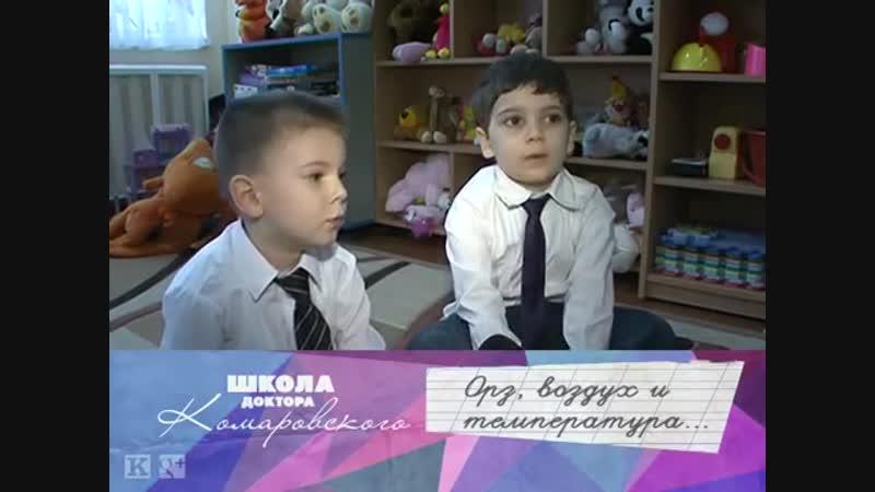 Лечим ОРЗ Чем дышать Школа доктора Комаровского