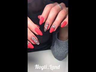 Матовые ногти Nogti_Land