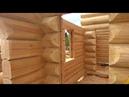 Сруб бани ручной рубки внутри лафет RemesloDom ru