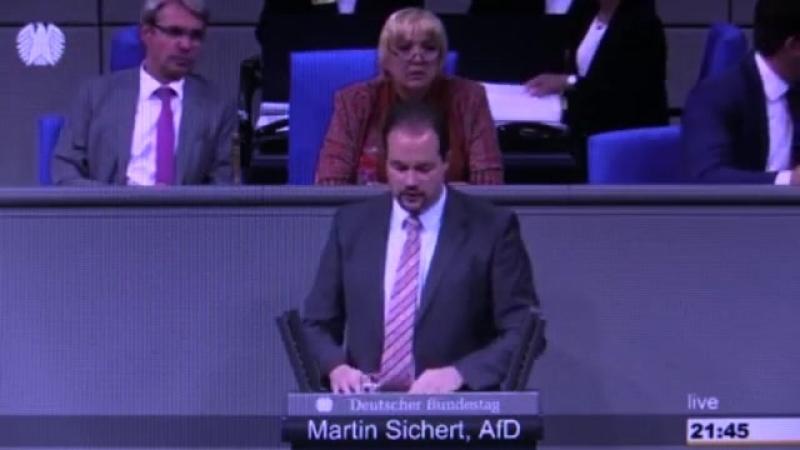 14 06 2018 Martin Sichert AfD bei dieser Rede flippt Claudia Roth völlig aus