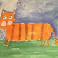 Рисунки детские коты