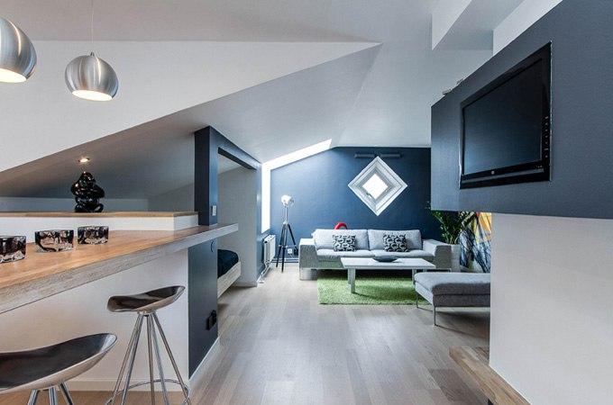 Дизайн квартиры-студии 46 м в Карлстаде / Швеция - http://kvartirastudio.
